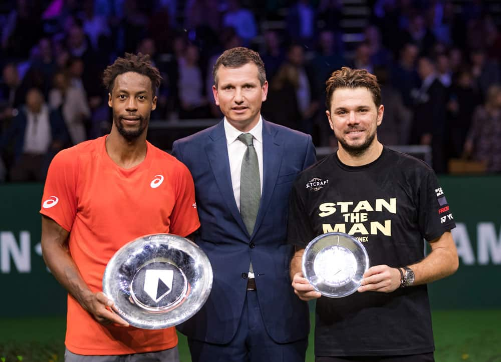 Gaël Monfils and Stan Wawrinka at the 2019 ABN AMRO World Tennis Tournament in Rotterdam
