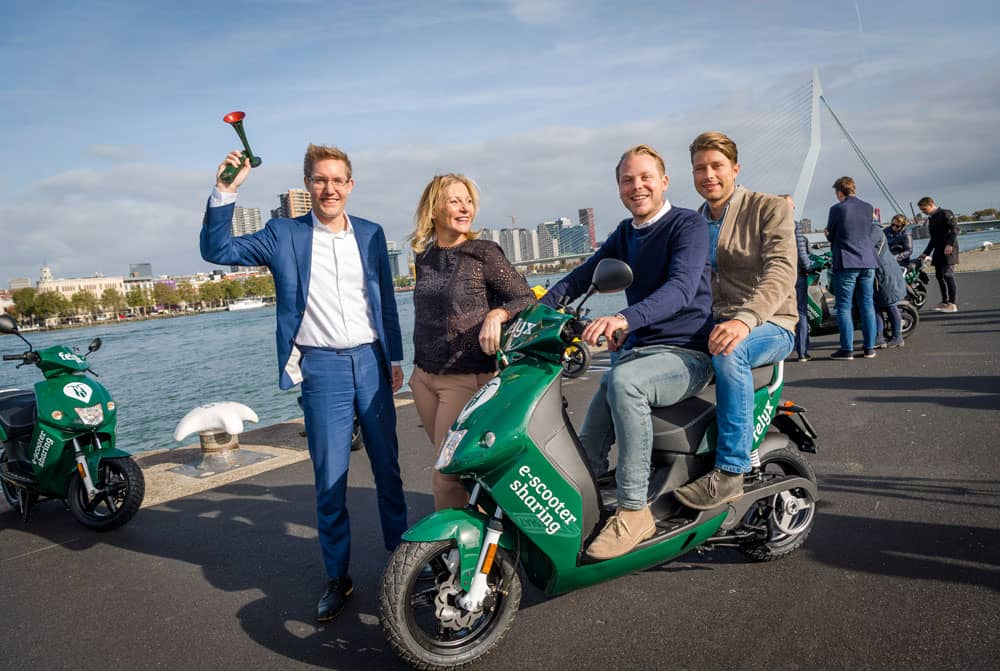 felyx electric scooter sharing now available in Rotterdam