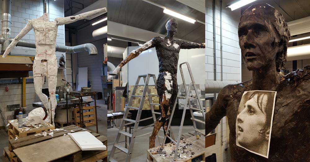 Rotterdam artist creates timeless statue of Johan Cruijff