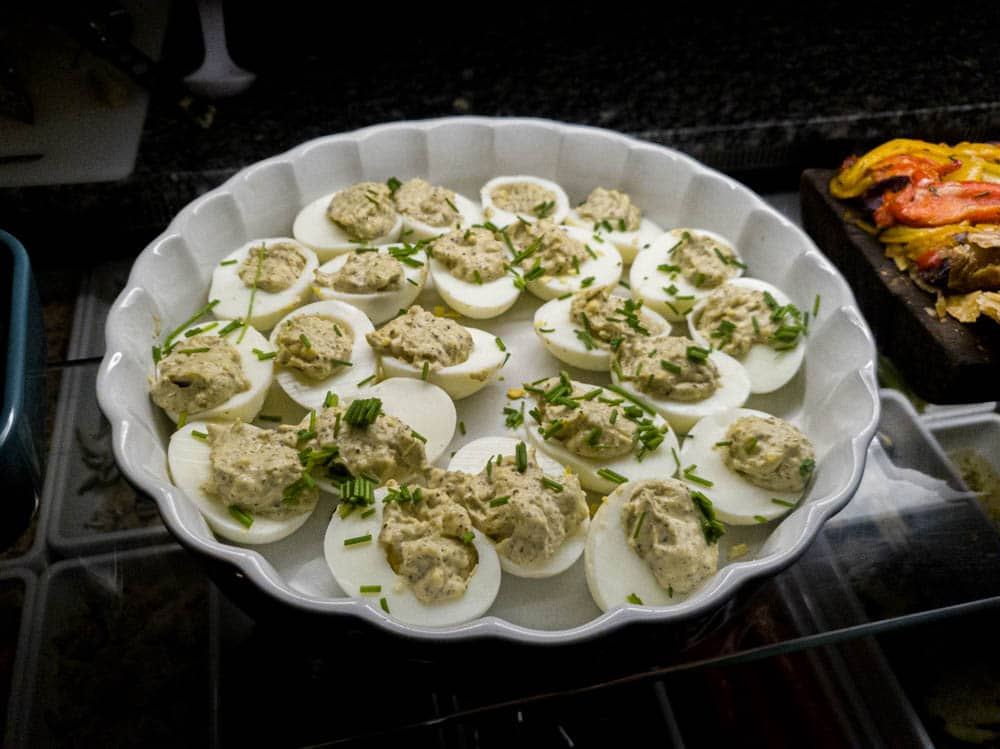 Didn't get to try these Deviled eggs, but they sure look tasty