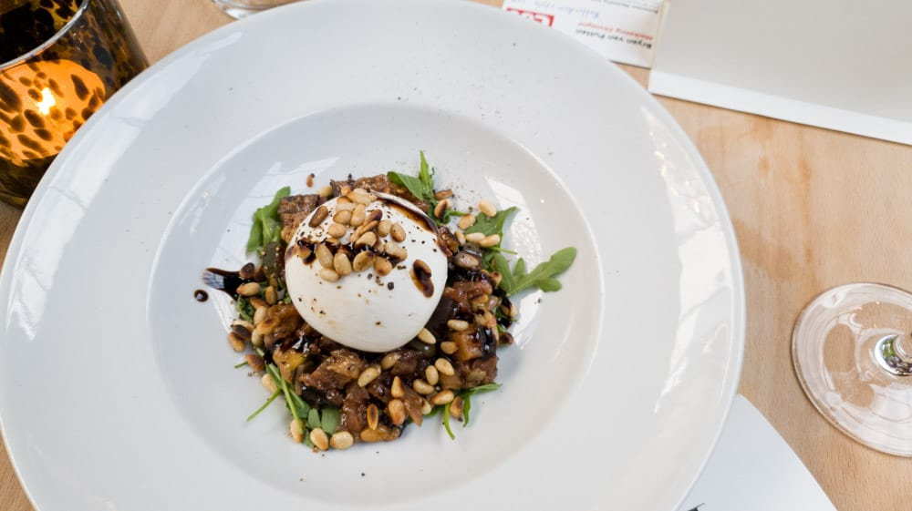 Burrata with Caponata
