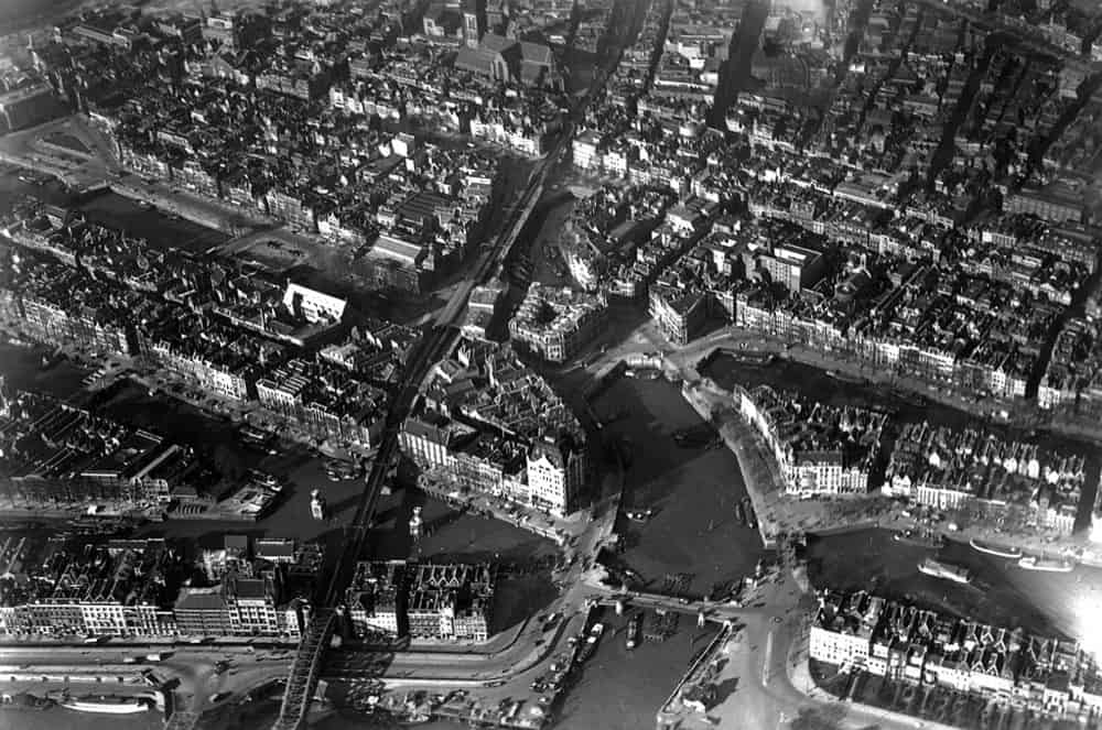 Aerial photo of Oudehaven Rotterdam in 1938