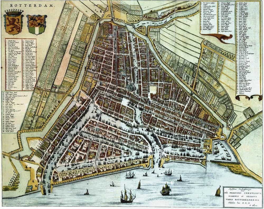 Map of Rotterdam from 1652 (Blaeu)