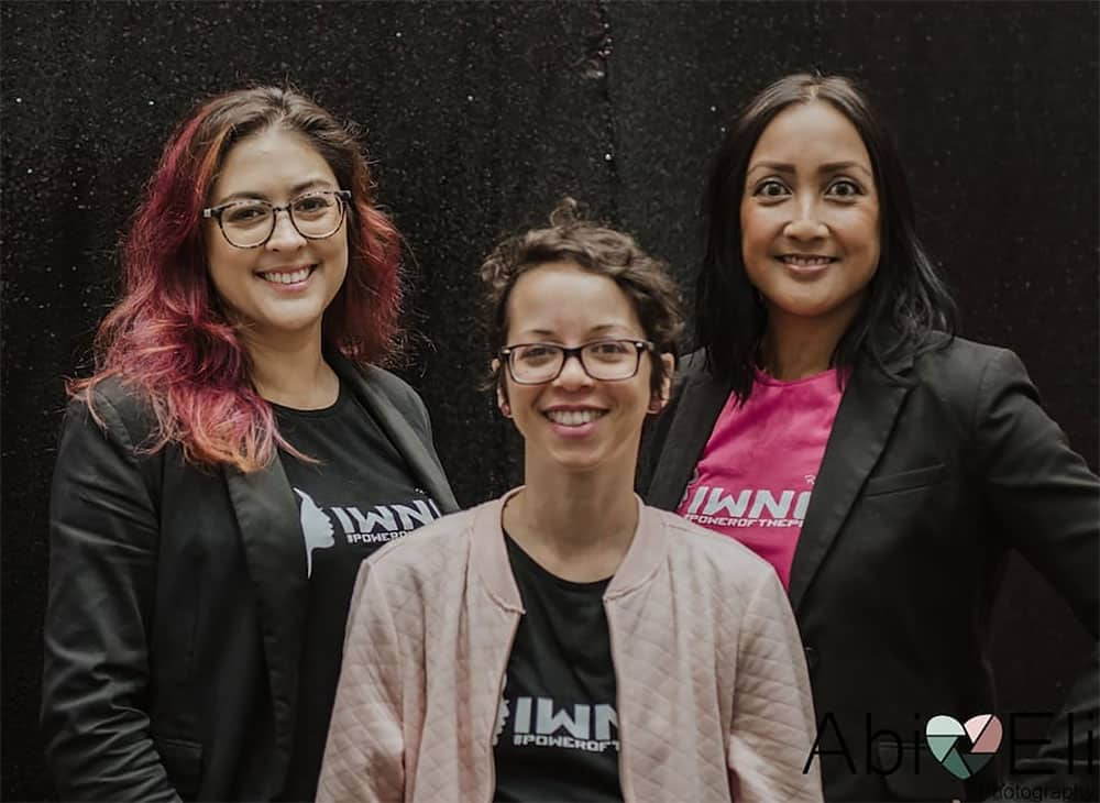 (left to right) IWNG co-founders Sterling Schuyler, Kristina Kay and Yustine Alvares
