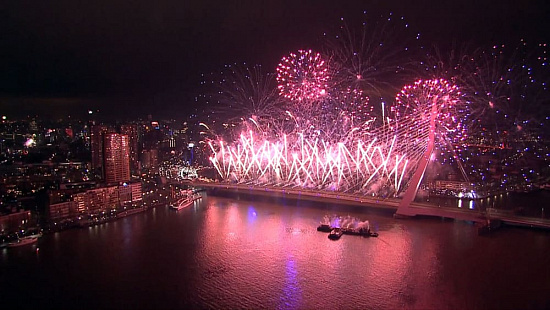 The National Fireworks show in Rotterdam