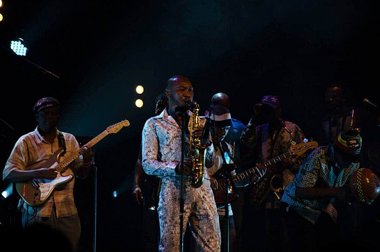 Seun Kuti performing at Motel Mozaique 2014